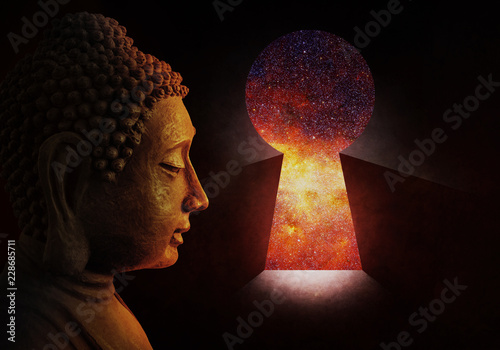 Foto auf AluDibond Buddha Head of the Buddha