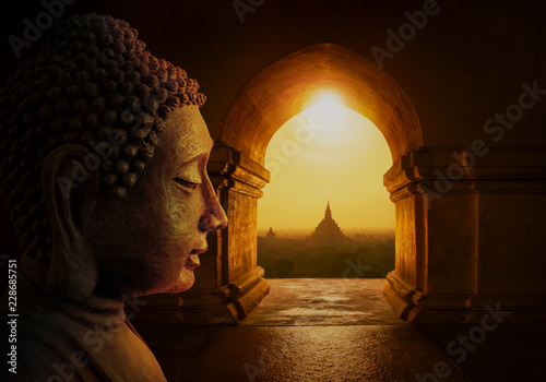 Spoed Foto op Canvas Boeddha Head of the Buddha