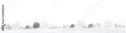 Fotografie, Obraz  christmas panorama on white
