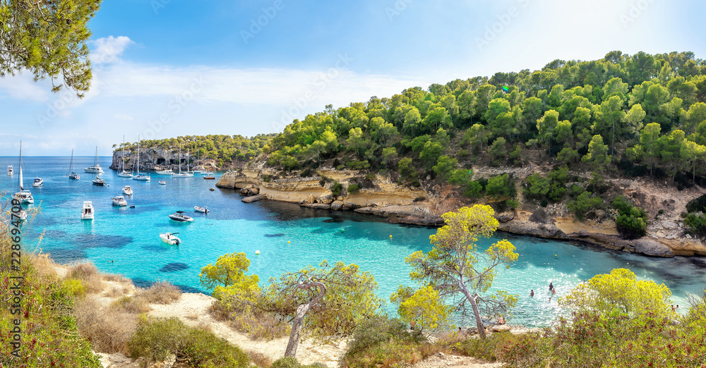 Fototapety, obrazy: panoramic view at the coastline of mallorca