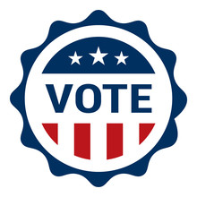 Vote - Election Day Badge - USA Elections Badge Icon