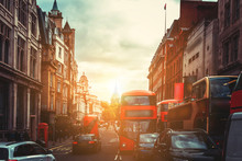 Oxford Street In London Agains...
