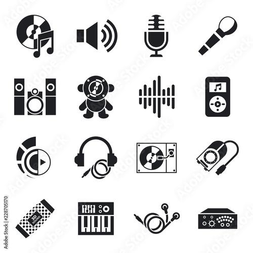 Fototapety, obrazy: Digital vector sound design and instruments