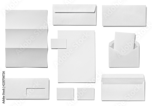 Fototapeta envelope letter card paper template business obraz na płótnie