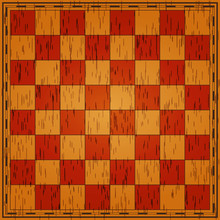 Chess Board. Wooden Texture. V...
