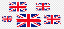 UK Flag With Colored Hand Drawn Lines. Vector Illustration