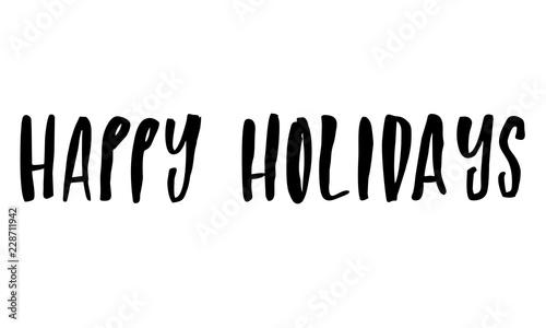 Photo  Happy Holidays