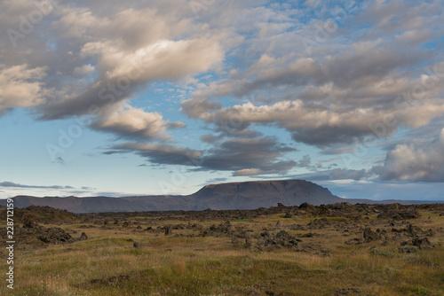 Staande foto Bleke violet Iceland landscape