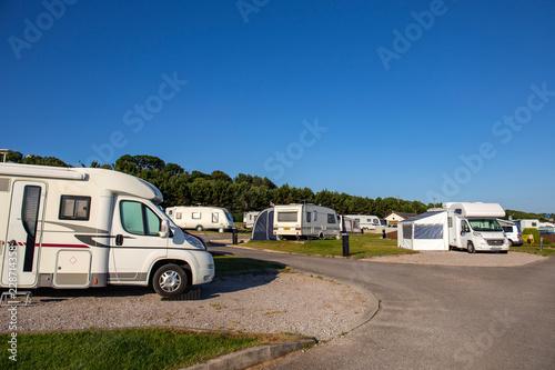 Vászonkép Campsite in Wales UK