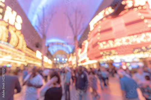 Spoed Foto op Canvas Las Vegas Las Vegas Blurred background night