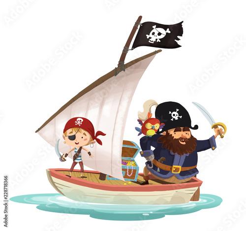 piratas en barco