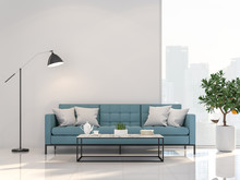 Minimal Style Living Room With...