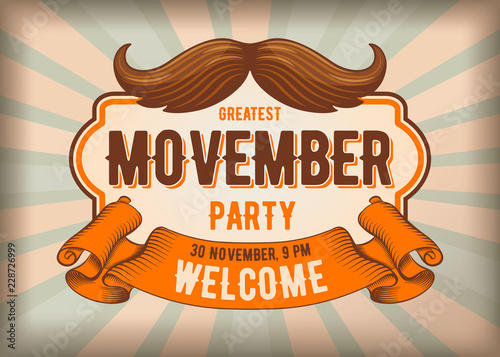Photo  Movember mustache party