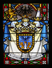 Coat Of Arms Of Ban Ladislav Pejacevic, Stained Glass In Zagreb Cathedral Dedicated To The Assumption Of Mary