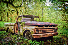 Abandoned Ford Pickup Truck Fr...