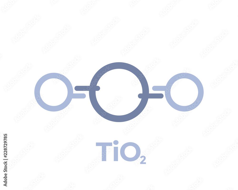Fototapeta titanium dioxide molecule icon on white