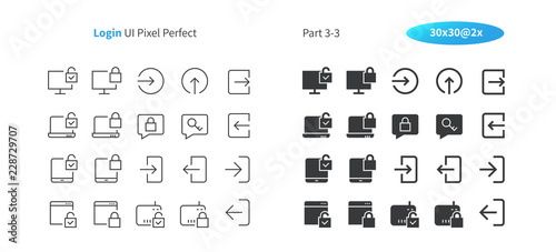 Login UI Pixel Perfect Well-crafted Vector Thin Line And