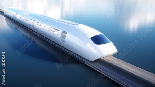Pinturas sobre lienzo  speedly Futuristic monorail train