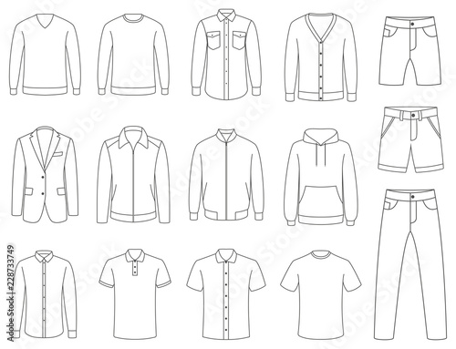 Obraz Clothes. Mens clothing vector - fototapety do salonu