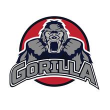 Gorilla Logo On White Backgrou...
