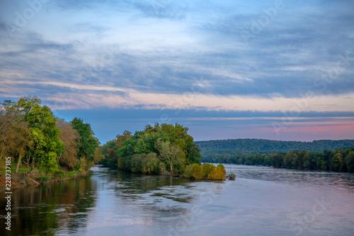 Canvas Prints River Delaware River Morning