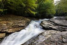 Natural Water Slide On An Summ...