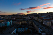 October, 2018 - Murmansk, Russia - Murmansk Is The Largest City In The World Located Beyond The Arctic Circle. Murmansk Is Located On The Rocky East Coast Of The Kola Bay Of The Barents Sea.