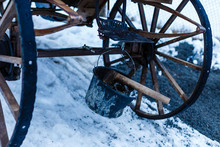 Old Wooden Cart In The Villiag...