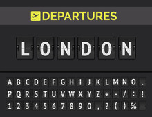 Airport Flip Board Font Showin...