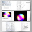 Vector layout of two square format covers design templates for trifold square brochure, flyer, magazine. SPA and healthcare design, sci-fi technology background. Futuristic, medical consept background