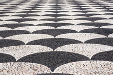 Mosaic Tiles Pavement  In Funchal, Madeira, Portugal.