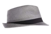 Gray Fedora Hat Against White ...