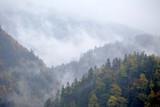 Pieniny w jesiennych barwach widziane z Sokolicy