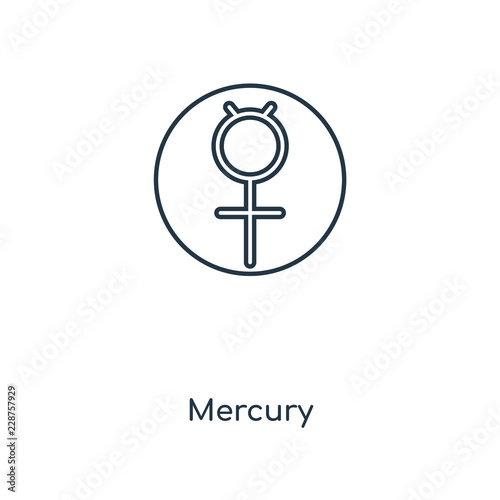 Photo  mercury icon vector