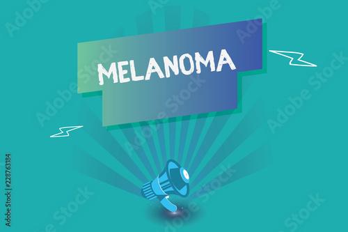 Vászonkép  Writing note showing Melanoma