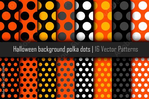 fototapeta na ścianę Set of patterns Halloween polka dots