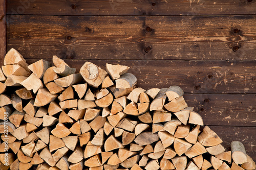 Printed kitchen splashbacks Firewood texture Firewood