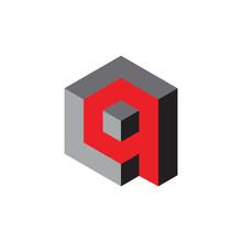 3D Q Letter With Cube Logo Design