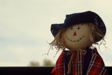 Country Scarecrow In Red And B...