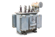 Old Three Phase Open Type Oil Immersed Transformer