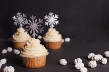 Christmas Cupcake Decorated Wi...