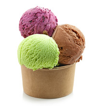 Ice Cream Balls In Paper Cup