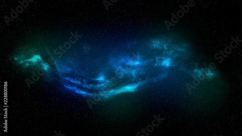 Obraz na plátně  Nebula espacial azul