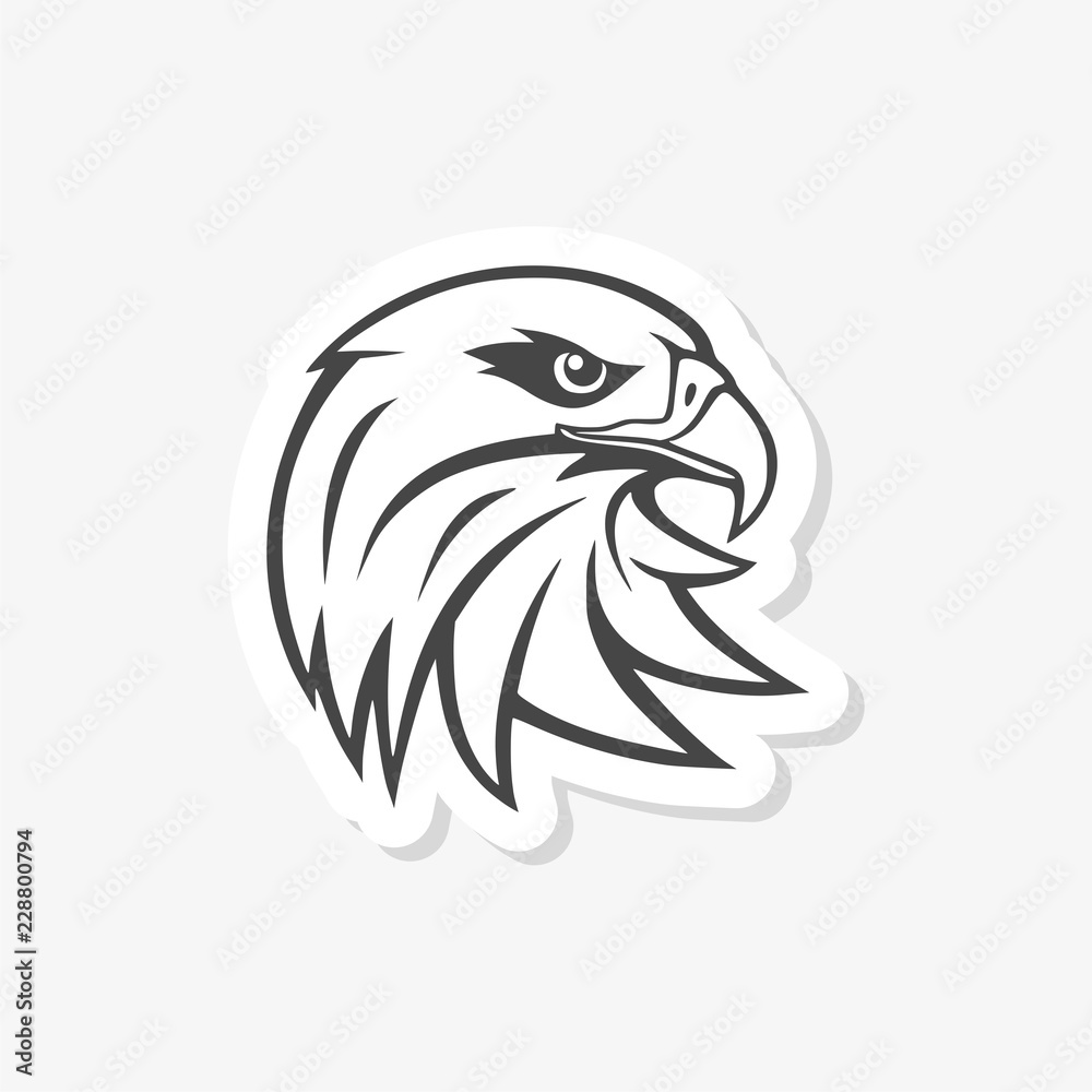 Eagle mascot logo for sport team, Eagle head sticker