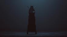Black Cloaked Futuristic Abstr...