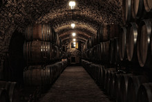 Wine Cellar Interior With Larg...