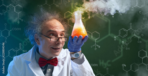 crazy chemist with cure Fototapet