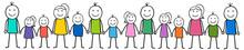 Viele Menschen / Familie / Zusammen / Strichmännchen