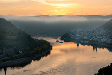 Sunrise At The Rhine Village B...