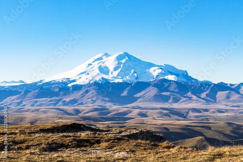 Deurstickers Asia land Mount Elbrus from Bermamyt at september morning